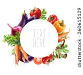 isolated vegetable composition... | Shutterstock . vector #260615129