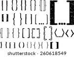 24  different hand drawn... | Shutterstock .eps vector #260618549