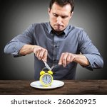 slow restaurant service concept | Shutterstock . vector #260620925