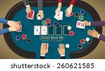 people playing poker around a...   Shutterstock .eps vector #260621585