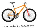 vector orange bike | Shutterstock .eps vector #260622575