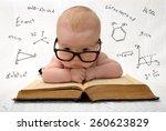 funny portrait of cute baby in... | Shutterstock . vector #260623829
