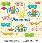 hand drawn festive background... | Shutterstock .eps vector #260625329