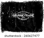 abstract grunge frame. vector...   Shutterstock .eps vector #260627477