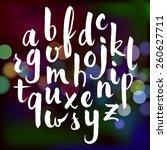 vector hand drawn alphabet on... | Shutterstock .eps vector #260627711