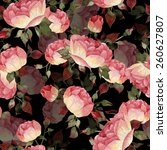 seamless floral pattern with... | Shutterstock . vector #260627807