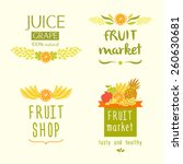 set vector logo for a store of... | Shutterstock . vector #260630681