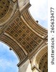 arc de triomphe  arch of... | Shutterstock . vector #260633477