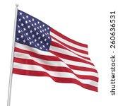 Flag Usa. 3d Illustration...