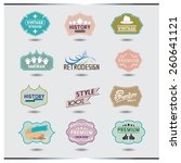 set of vintage shop logo... | Shutterstock .eps vector #260641121