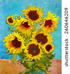 Sunflowers  Digital Art Like...