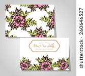 wedding invitation cards with... | Shutterstock .eps vector #260646527