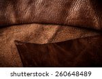 Постер, плакат: Dark Brown Leather Cutting