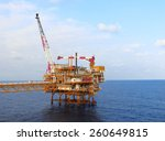 oil and gas platform in the... | Shutterstock . vector #260649815