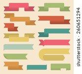 set of retro ribbons. flat... | Shutterstock .eps vector #260651294
