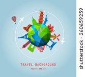travel background  around the...   Shutterstock .eps vector #260659259