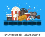 movie theater banner design... | Shutterstock .eps vector #260660045