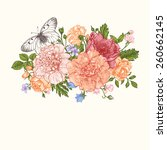 floral background. card with a... | Shutterstock .eps vector #260662145