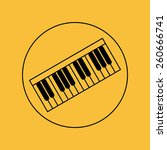 piano vector thin icon