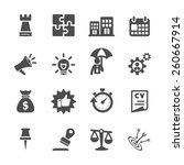 business concept icon set ... | Shutterstock .eps vector #260667914