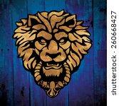 Vector Lion Door Knocker  Handle