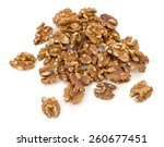 a handful of walnuts isolated... | Shutterstock . vector #260677451