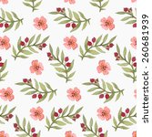 pattern with watercolor... | Shutterstock .eps vector #260681939