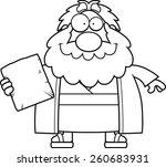 a cartoon illustration of moses ... | Shutterstock .eps vector #260683931