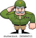 an illustration of a cartoon... | Shutterstock .eps vector #260686511