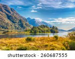 beautiful scottish lake   or... | Shutterstock . vector #260687555