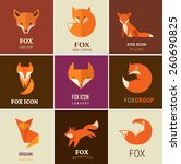 fox signs  illustrations and... | Shutterstock .eps vector #260690825