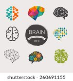 collection of brain  creation... | Shutterstock .eps vector #260691155