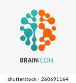 brain  creation and idea icon... | Shutterstock .eps vector #260691164