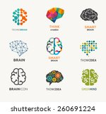 collection of brain  creation... | Shutterstock .eps vector #260691224