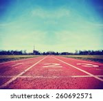 athlete track or running track ... | Shutterstock . vector #260692571