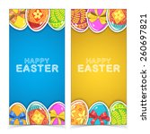 easter banners. holiday... | Shutterstock .eps vector #260697821