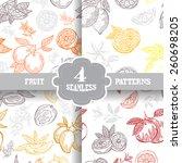 elegant seamless patterns set... | Shutterstock .eps vector #260698205