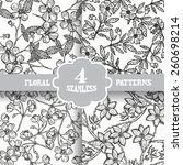 elegant seamless patterns with... | Shutterstock .eps vector #260698214