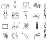 16 outline art vector icons set ... | Shutterstock .eps vector #260699294