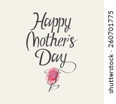 hand lettering for mothers day. ... | Shutterstock .eps vector #260701775