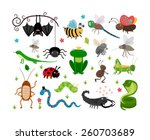 Set Of Cute Vector Insects And...