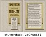 template booklet in vintage... | Shutterstock .eps vector #260708651