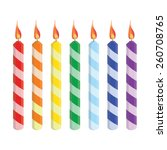 Seven Striped Birthday Candles...