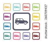 car flat icons set. open... | Shutterstock . vector #260709437