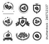 coffee labels and icons set.... | Shutterstock .eps vector #260712137