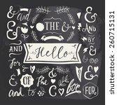 set of elements  design ... | Shutterstock .eps vector #260715131
