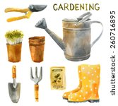 Watercolor Gardening Set