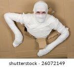 Man In Costume Mummy Looking...