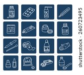 set of medicine linear icons on ... | Shutterstock .eps vector #260723495