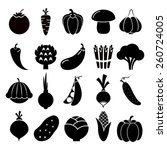 vegetables silhouettes icons.... | Shutterstock .eps vector #260724005